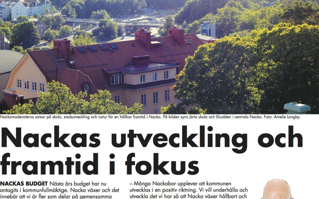 Nackabladet nr 4/2013: Nackas utveckling och framtid i fokus